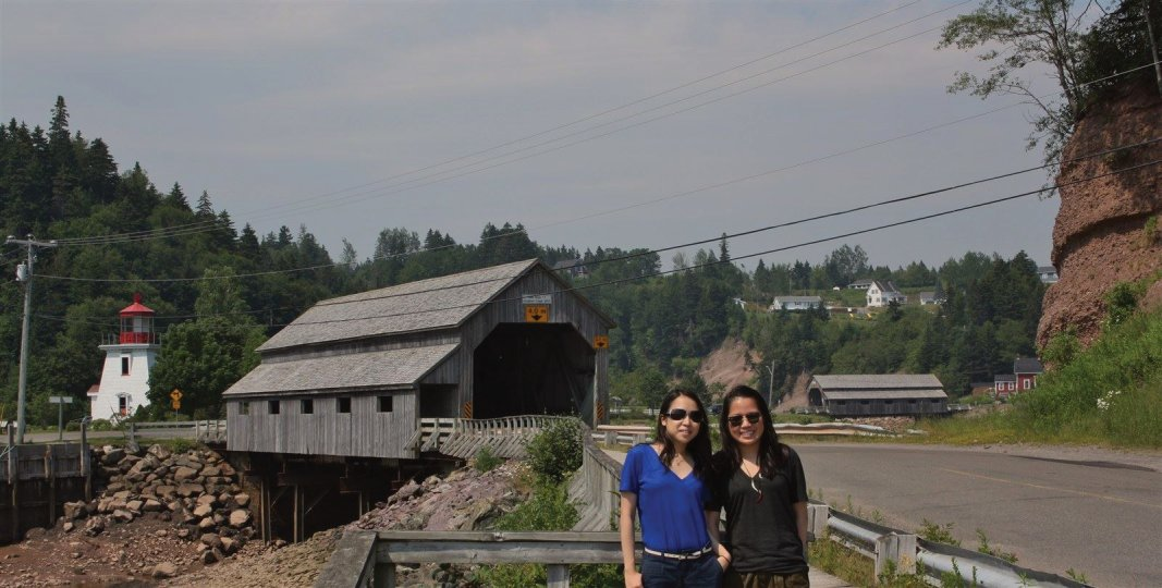 Dave's Taxi Tour Guys visit St Martins Covered Bridge