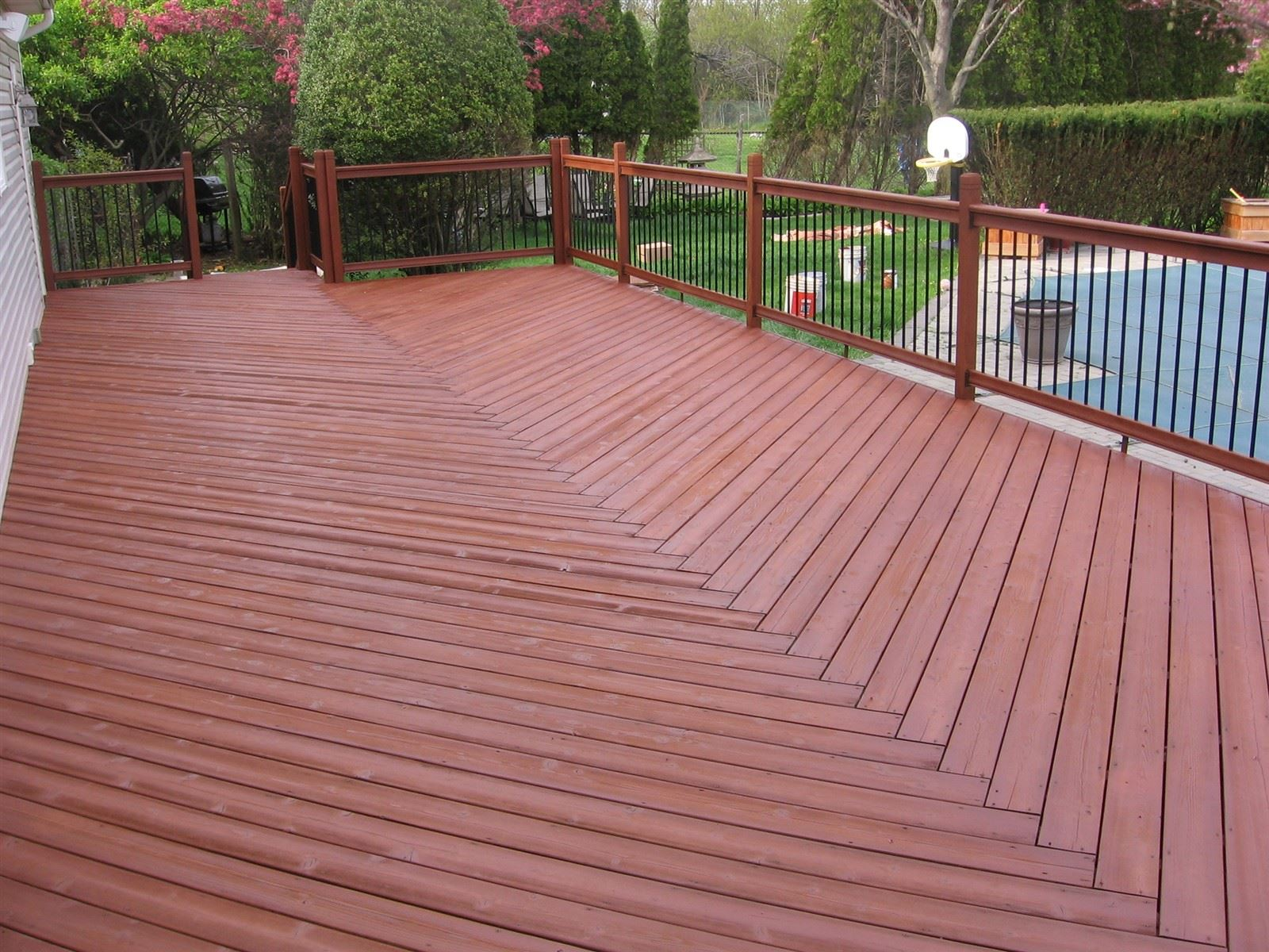 After staining with Sherwin-Williams Cidar Mill