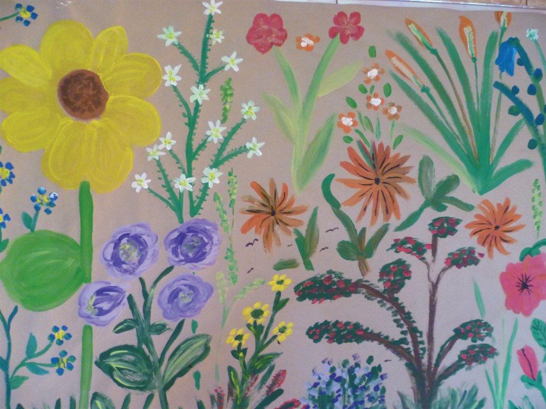 Blumen in der Kunsttherapie