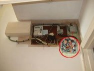 An interesting position for a fuse board