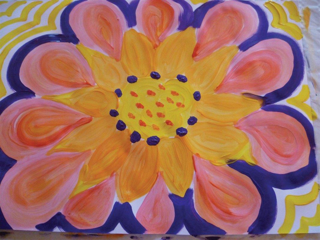Symbol:Blume des Lebens! ...mehr als 10 Blütenblätter, was bedeutet das?...Kunsttherapie