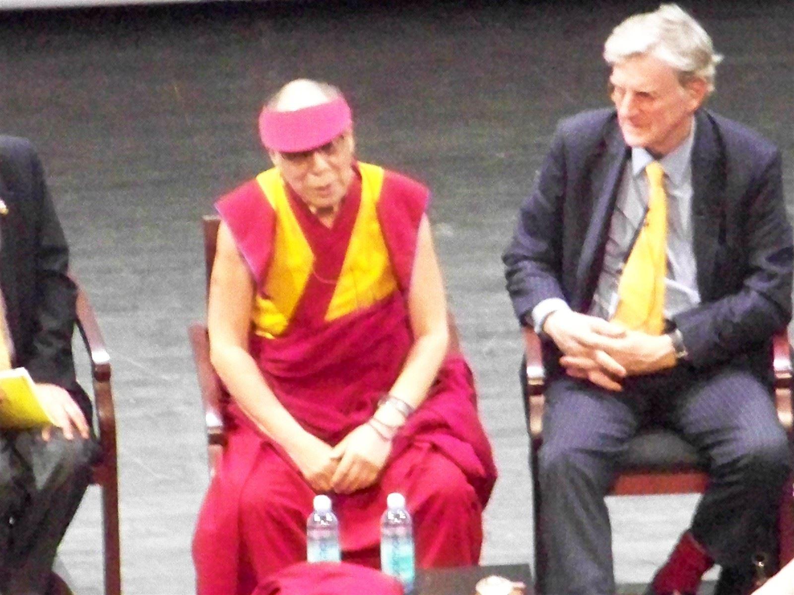 His Holiness the Dalai Lama, Moderator Robert Thurman : His Holiness the Dalai Lama with Moderator Robert Thurman, @NewarkPeace May 2011