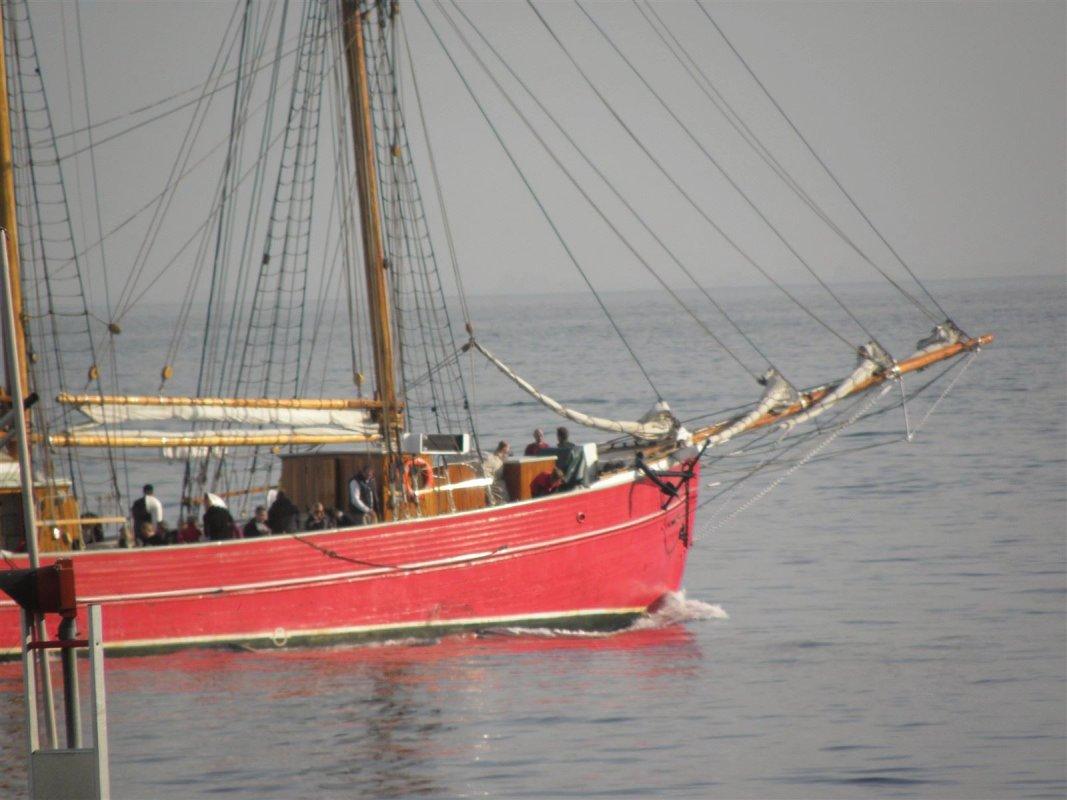 Finaste röda danska skutan på besök