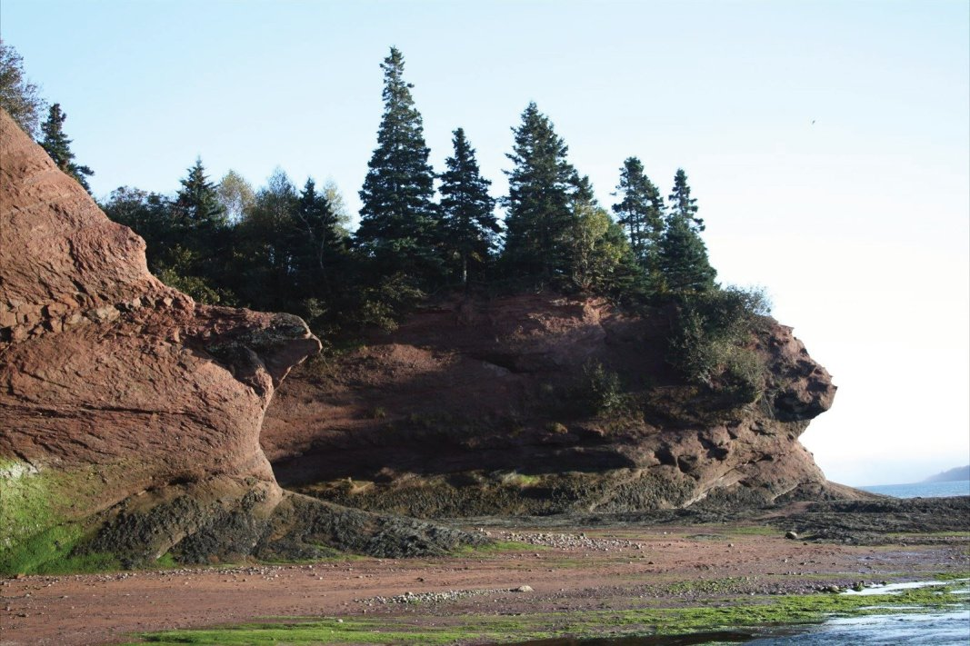 St Martins Sea Caves on the Bay of Fundy