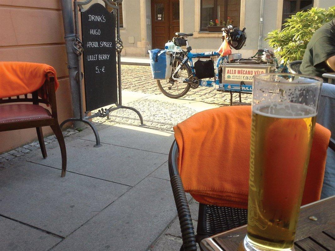 : Pause à Pirna, à quelques kilomètres de la frontière tchèque