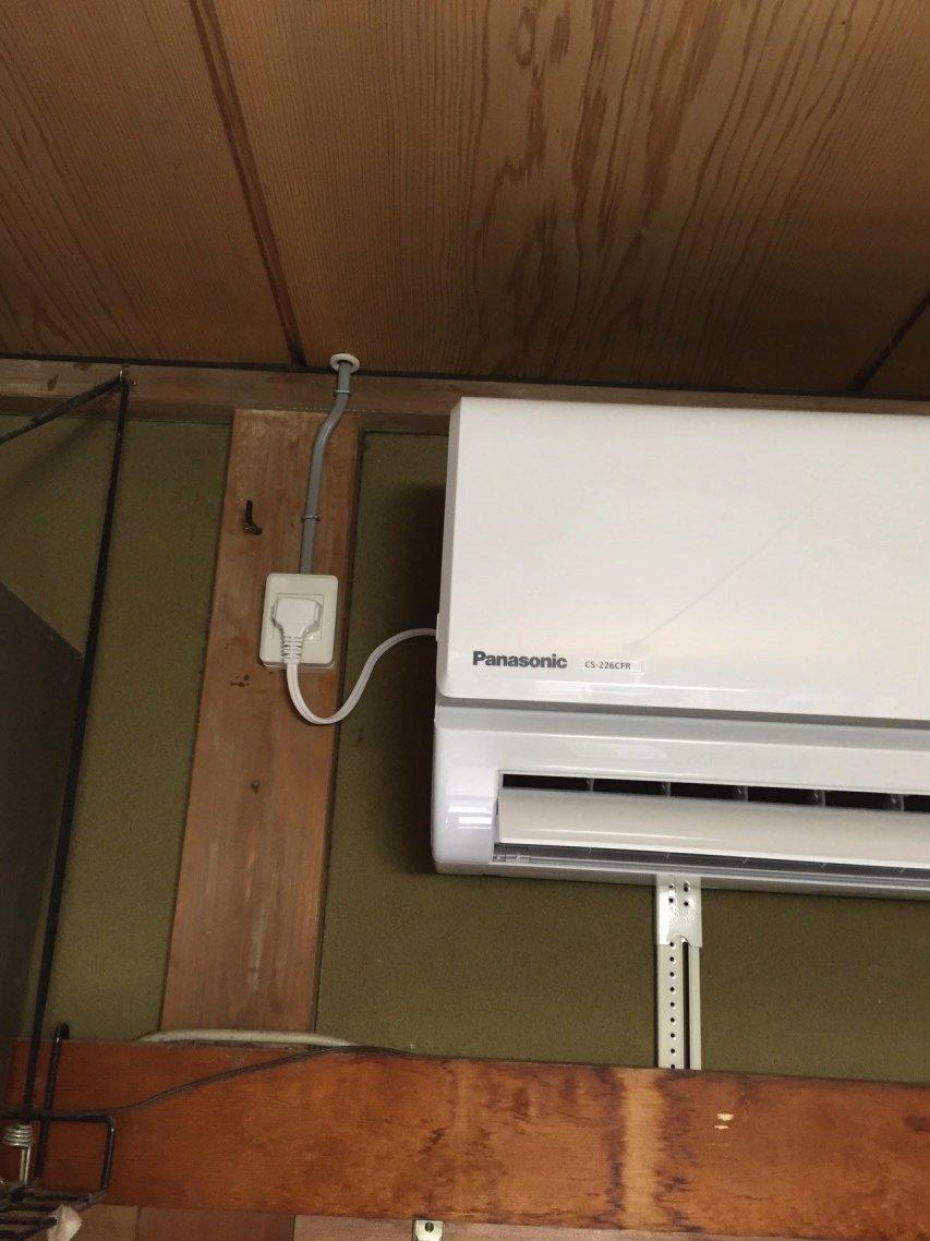 エアコン専用コンセントの設置も電気工事士免許所持で任せて安心