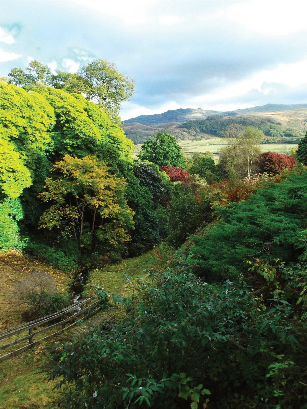 looking across the valley at Muncaster