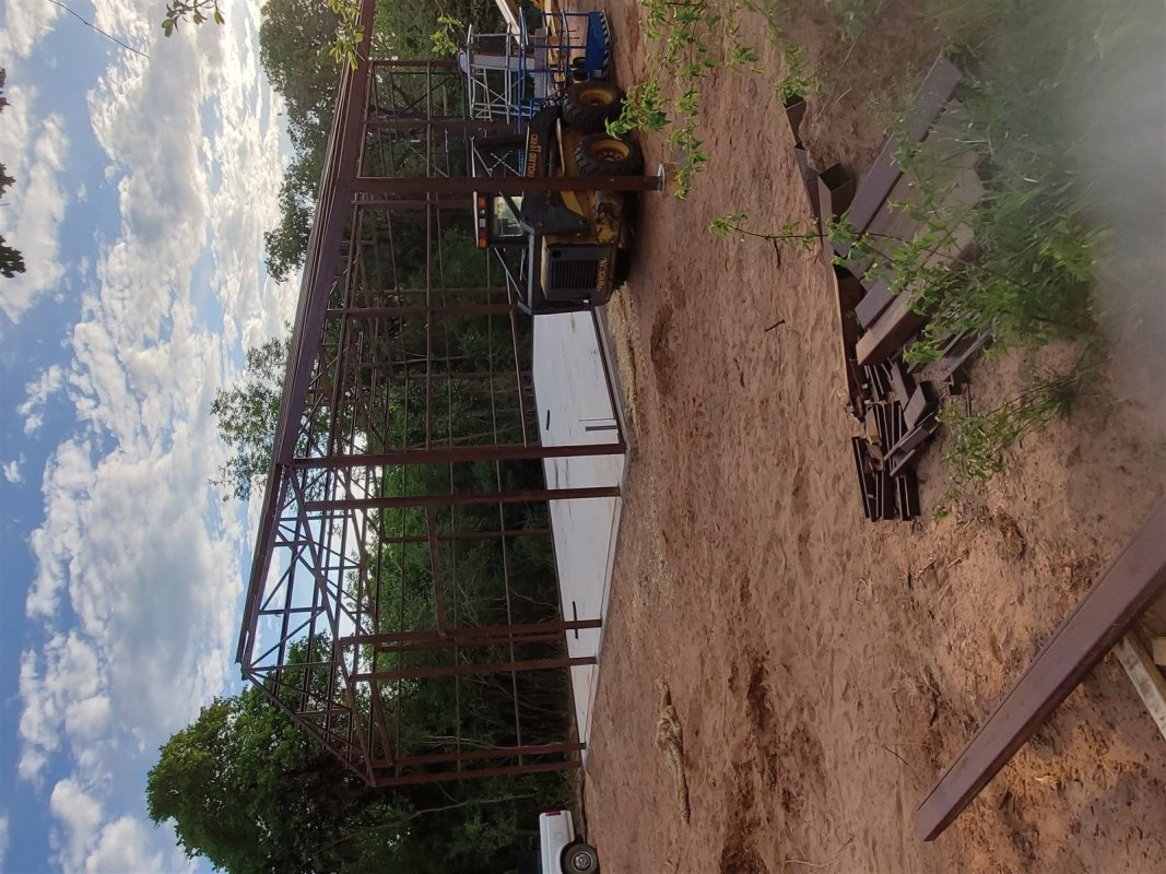 One call! Land clearing, dirt work, concrete and steel buildings.