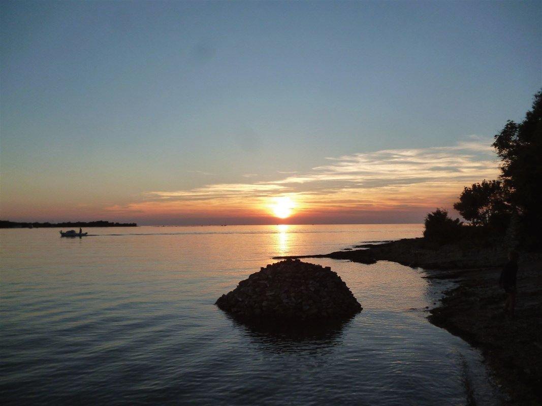 : Couché de soleil sur la cote Slovéne