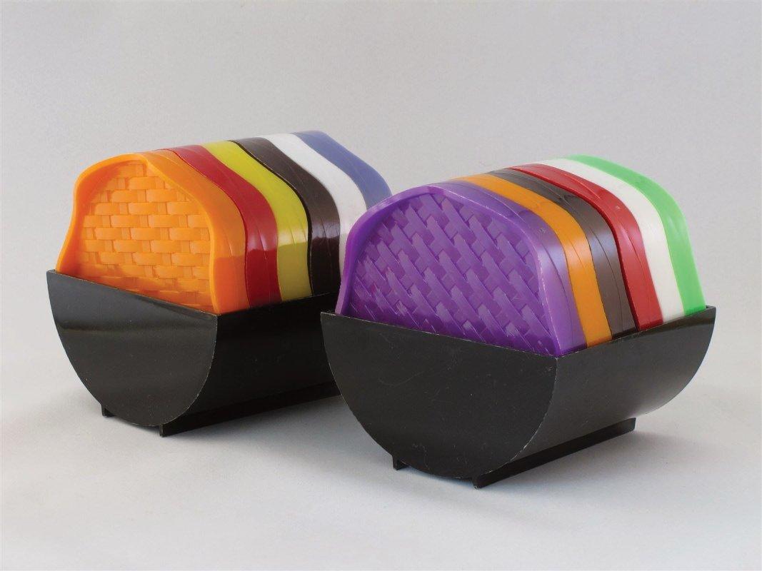 bussum holland vintage plastic coasters