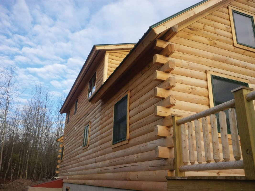 Log cabin staining Durham NY