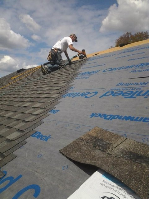 Local roofer in Brechin On  Job went well in Lagoon City 2013