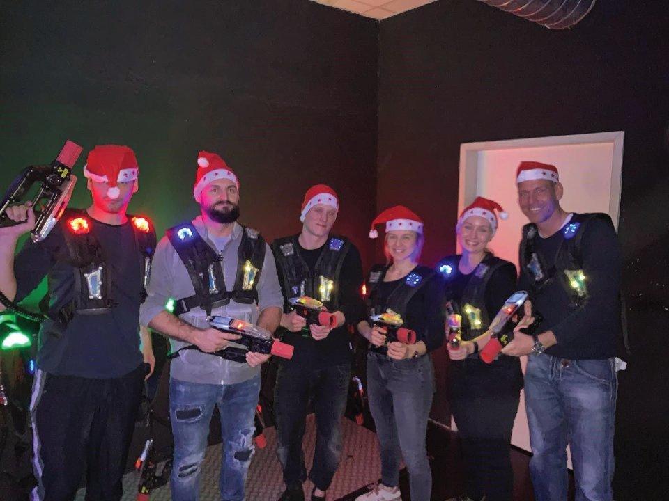 Eure Personal Trainer für Bochum bei der Weihnachtsfeier :-):