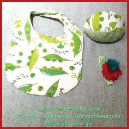 : This year our guests received a bib, a football, or a hairband - handmade with love by a SPB mama and grandma
