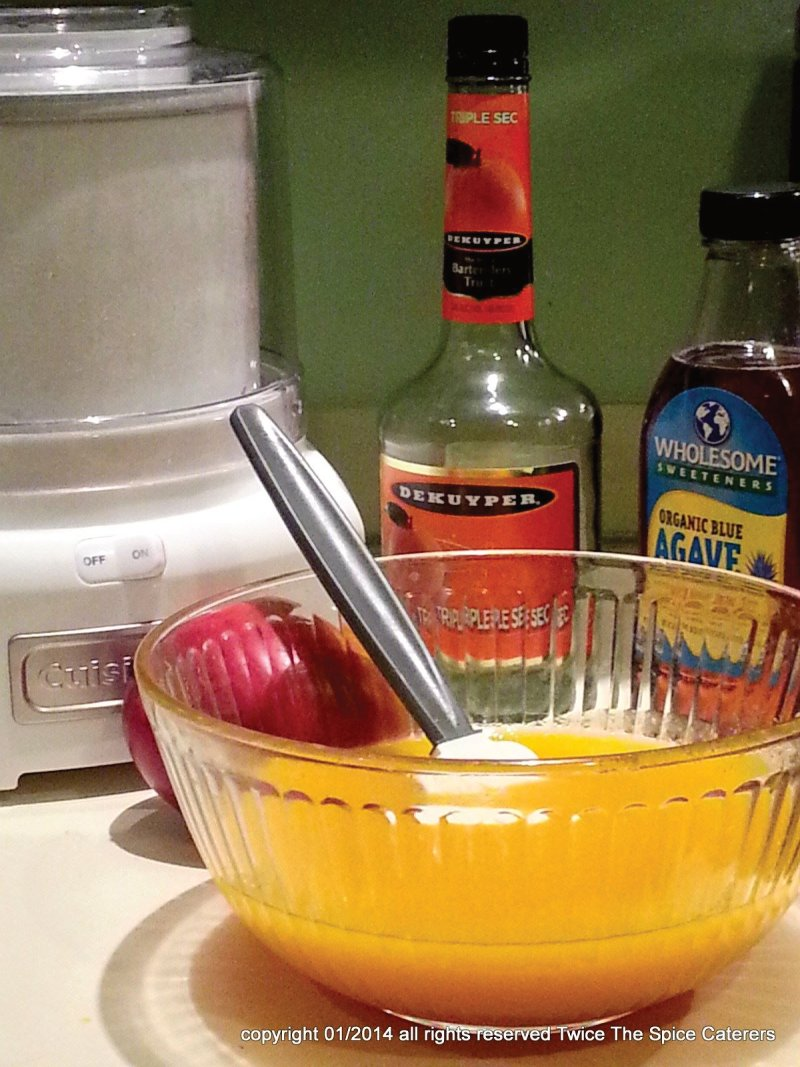 Homemade Mango Sorbet ingredients on Blog Healthy Infused Comfort Food