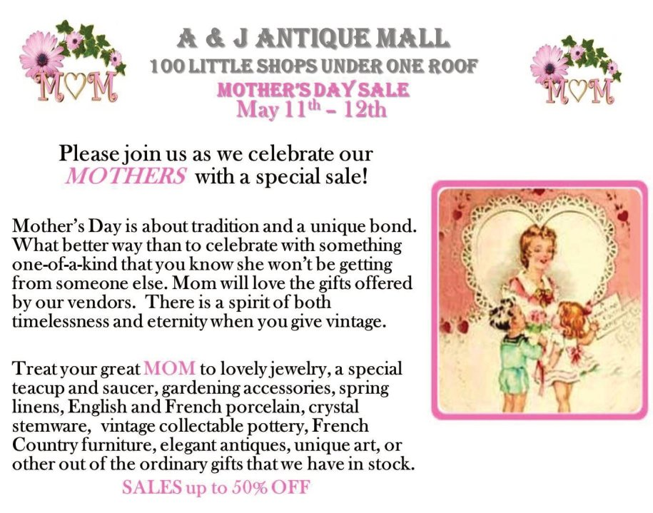 Picture1 Mother's Day Sale May 11th & 12th