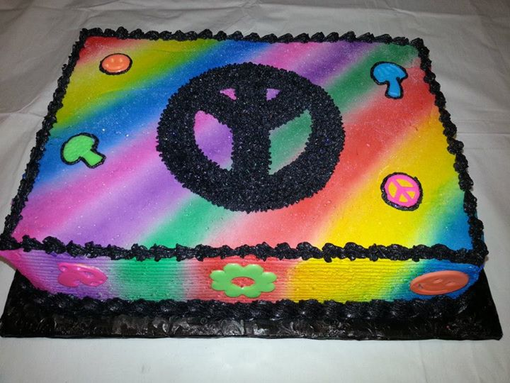 Prime Peace Sign Cake Personalised Birthday Cards Epsylily Jamesorg