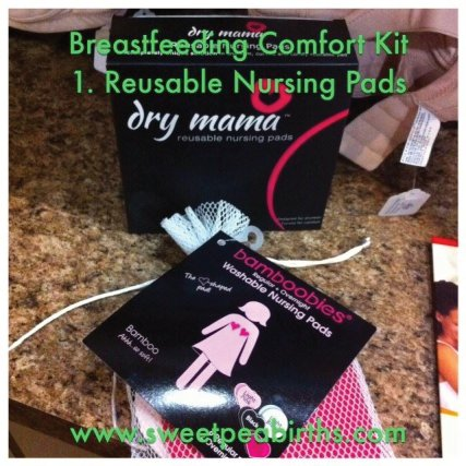 Breastfeeding Comfort Kit brought to you by Modern Mommy Boutique and Sweet Pea Births, offering Bradley Method® natural childbirth classes offered in Arizona