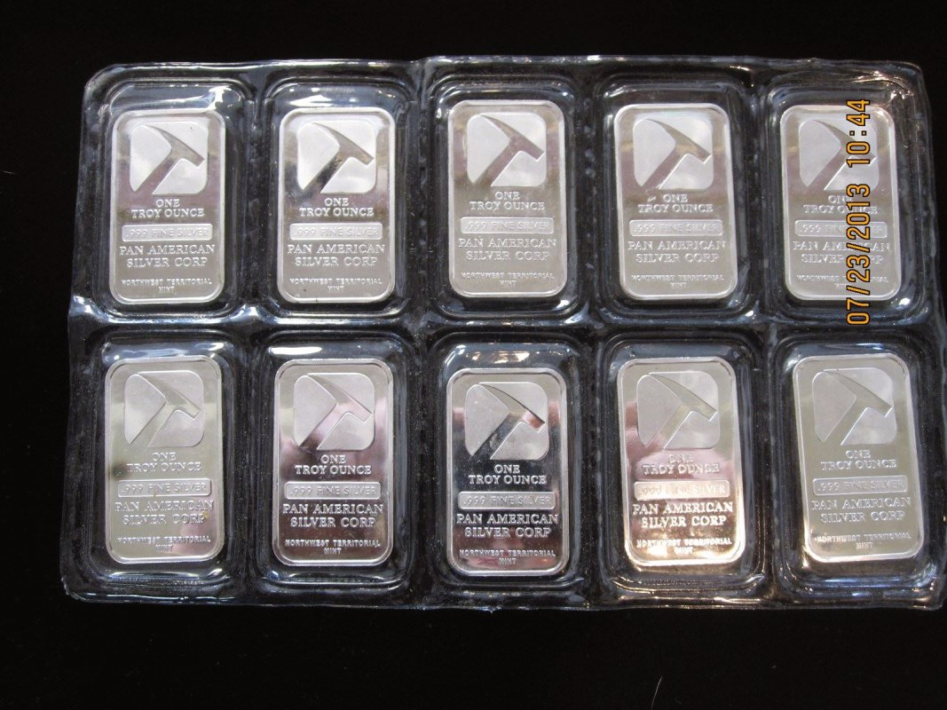 Once ounce Silver bars. Good investment