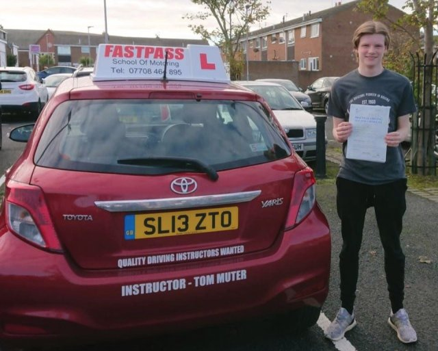 Jake pass. Driving Lessons Whitley Bay