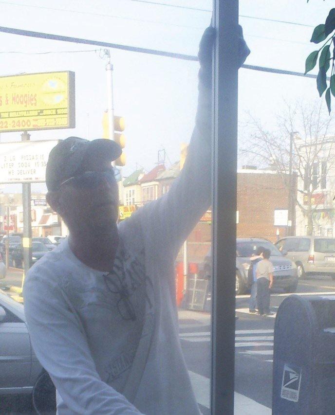Fixing a broken window in Philadelphia Pa
