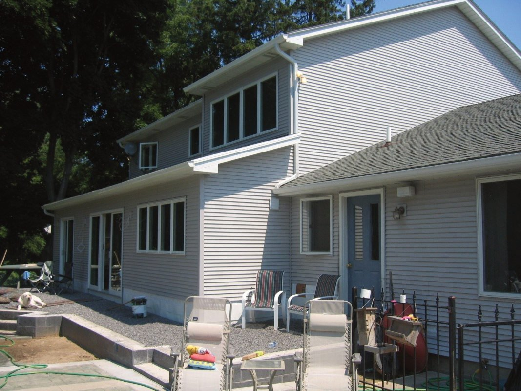 Exterior Elevation of the Kitchen & Dining Addition