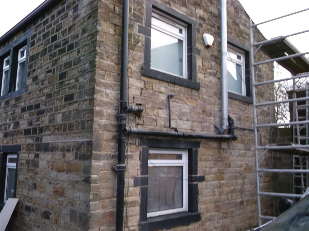 repointing of yorkshire stone in gomersal   using lime mortar