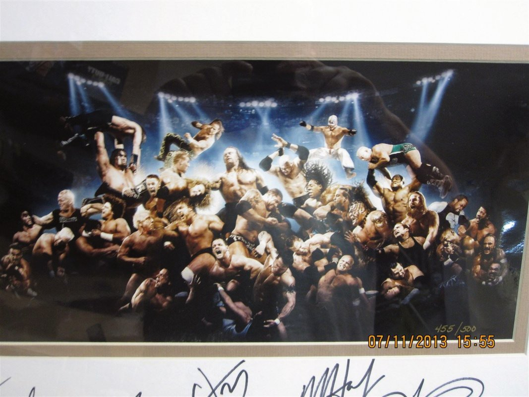 WWE Royal rumble signed