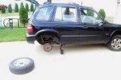tire jack damage, use wook planks, to prevent sinkage and swayling . REGIONAL PAVING & CONCRETE, Asphalt Maintenance www.regionalpaving1976.com