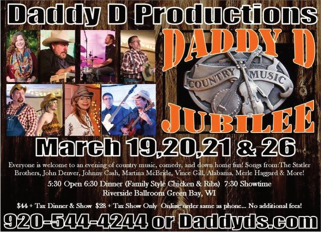 Daddy D Productions comedy musical variety show, sound lighting and production by Sonic M.D. Daniel Collins green bay wi