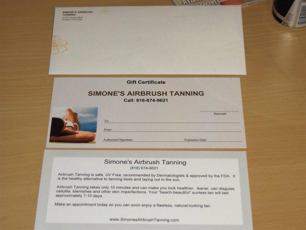 Airbrush Tanning Gift Certificates in Tarzana California