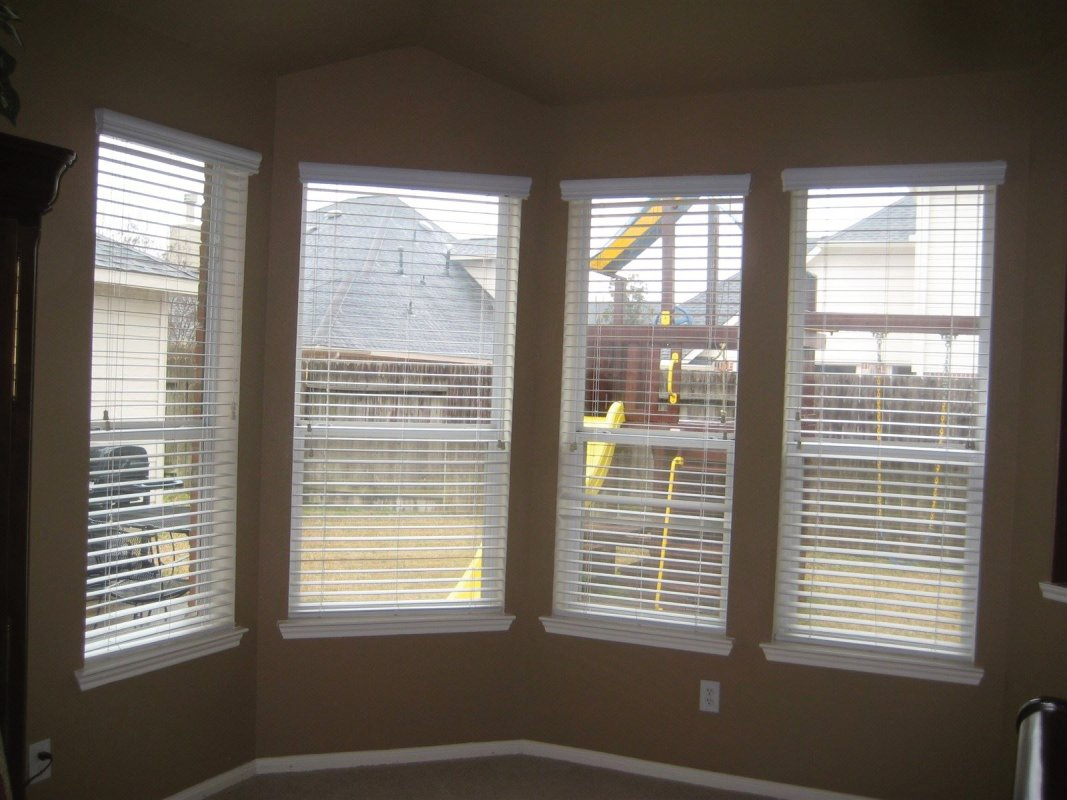 """Before (with 2"""" Faux Wood Shutters)"""