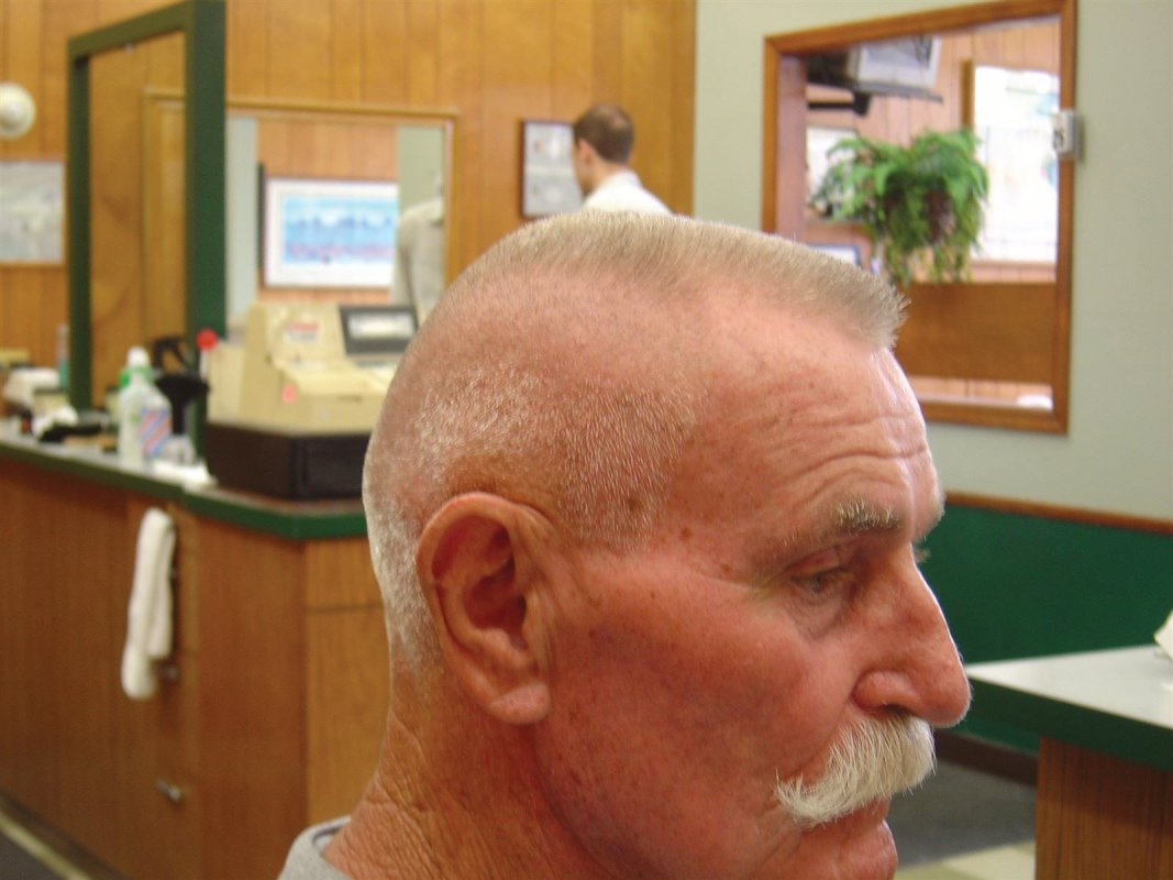 : Classic Flat-Top with Handlebar Mustache by Steve