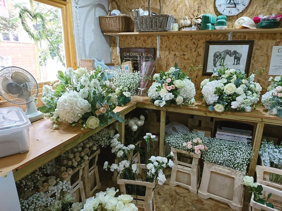 Wedding Flowers in the flower studio