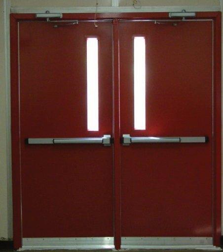 Pair of Hollow Metal Frame with Hollow Metal Doors & Door Hardware