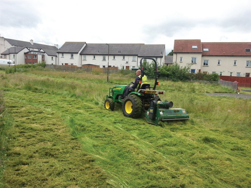Tractor and flail cutting and clearing works in Edinburgh