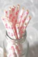 Retro spot straws