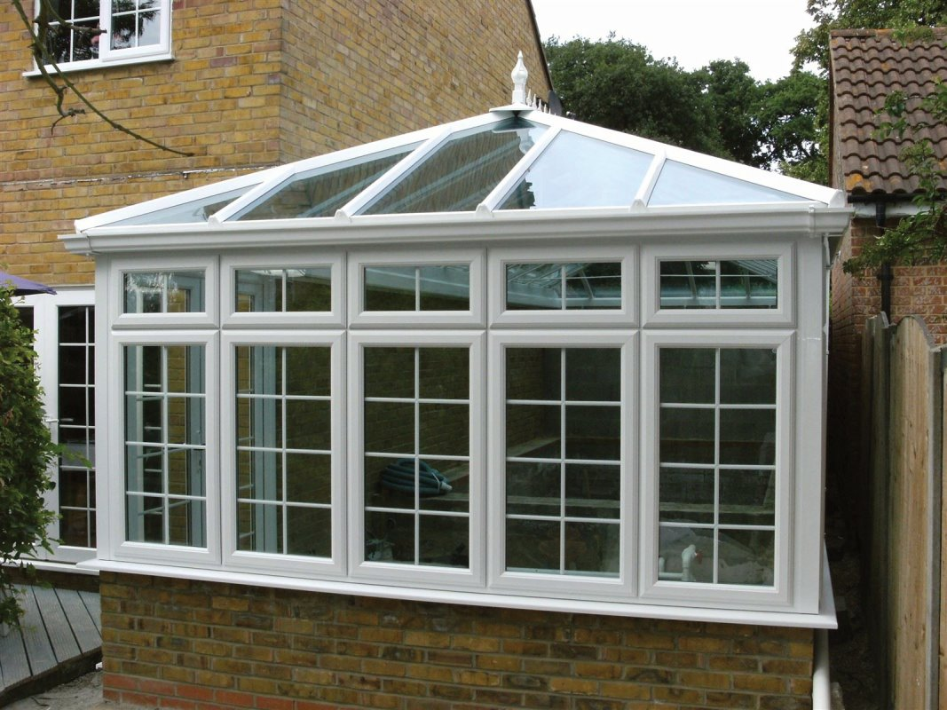 White georgian grille conservatory. Chigwell, Essex