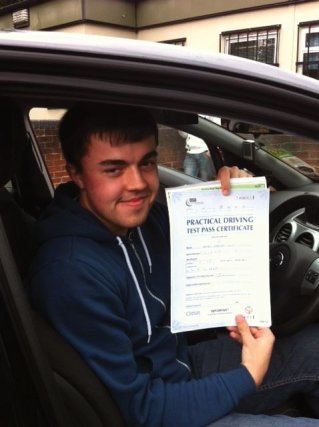 James Swift  Passed his Test First Time