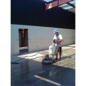 polished concrete prep