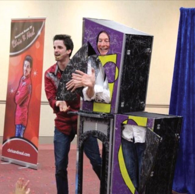 Magicians Chris and Neal make an appearance in Rockingham North Carolina outside of Raleigh with their spellbinding illusion show full of magic and wonder