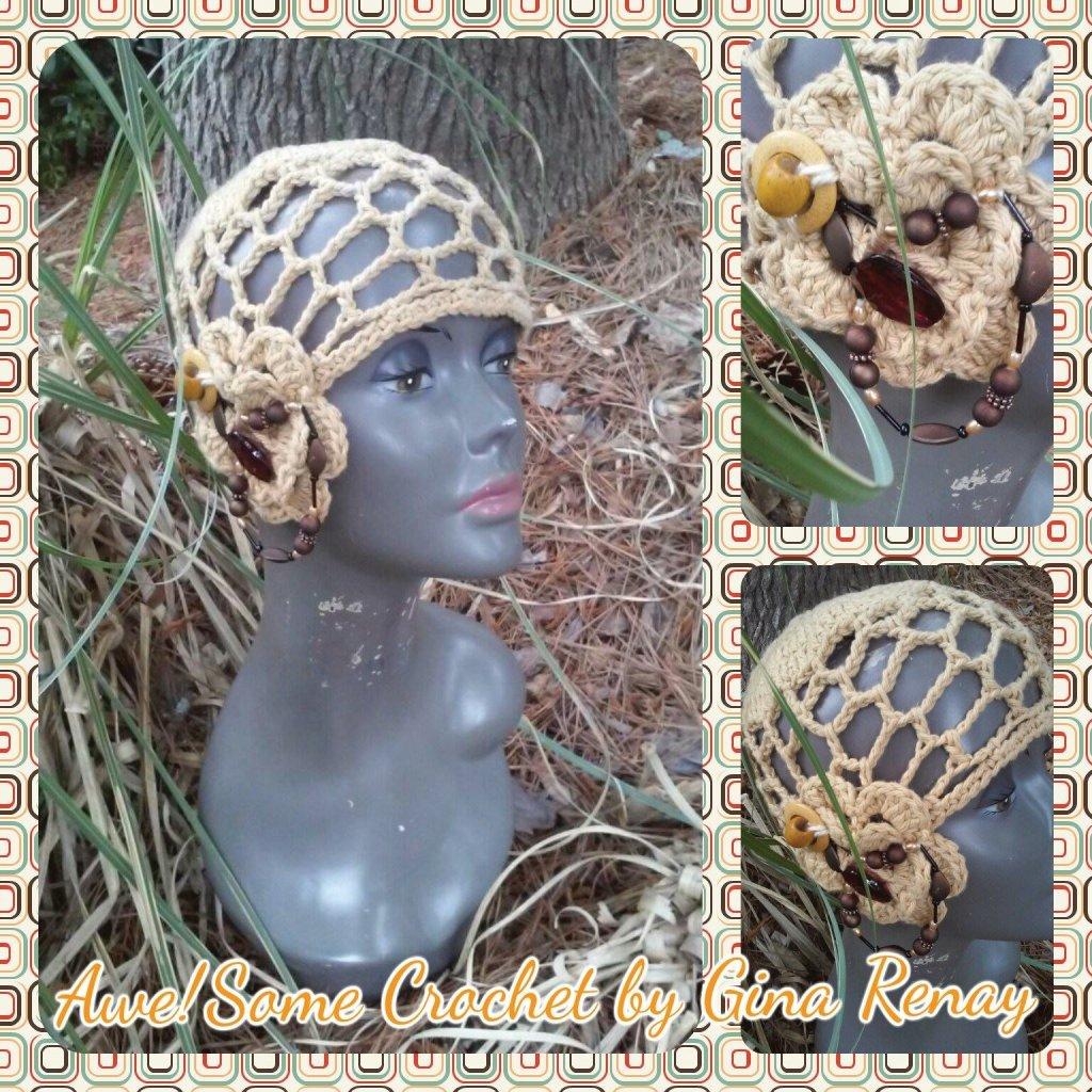 Cotton crochet mesh flower detail SPR05-303
