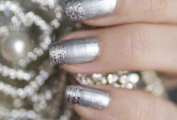 argenté gris pailleté