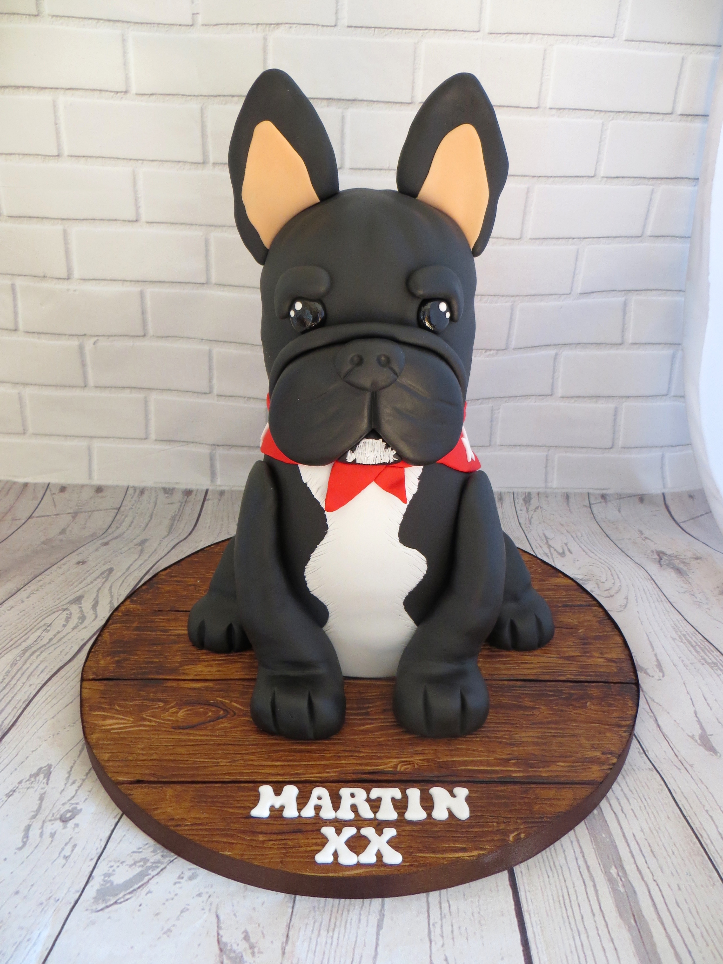 Tremendous French Bulldog Birthday Cake Funny Birthday Cards Online Overcheapnameinfo