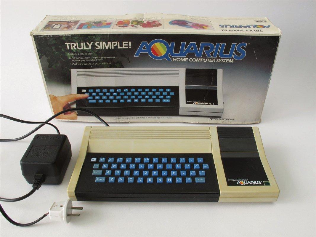 Mattel Aquarius Basic Programming computer, boxed