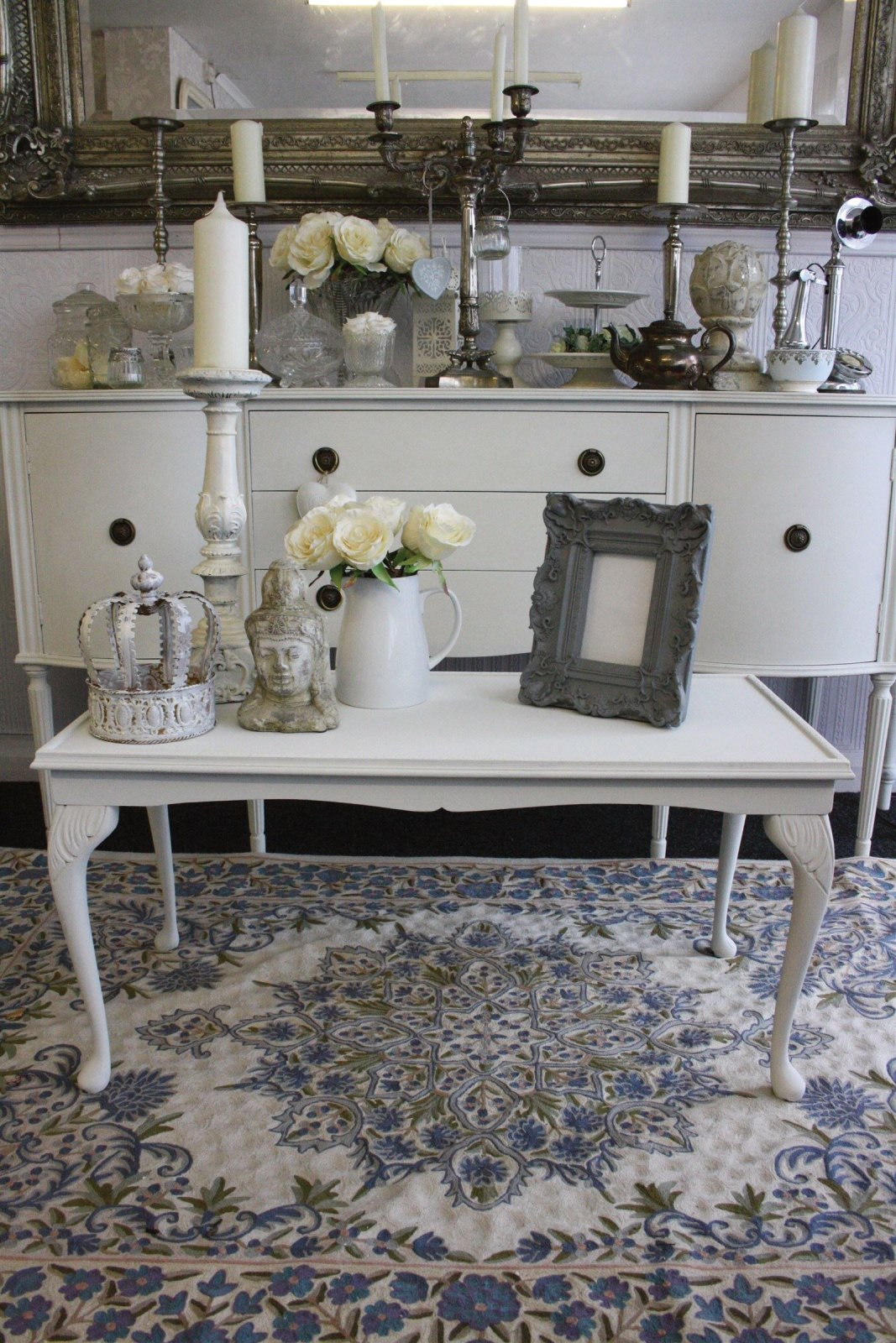Annie sloan old white louis coffee table