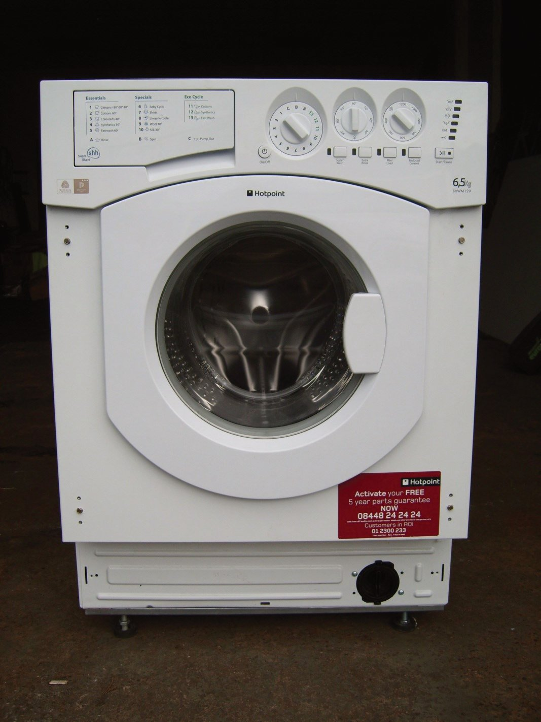 dawesdomestics.co.uk HOTPOINT BHWM 129,  £225