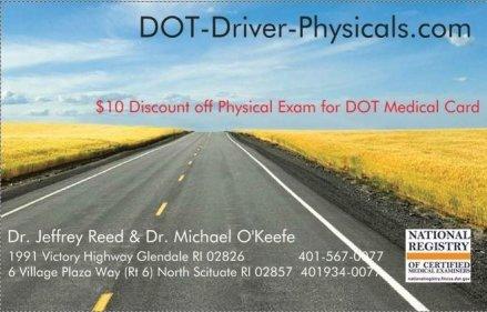 dot- physical exam-discount-card-RI