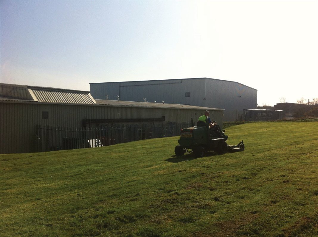 Grounds maintenance of industrial areas, factory grounds and business parks in Edinburgh, Midlothian, East Lothian, Fife and the Scottish Borders regions