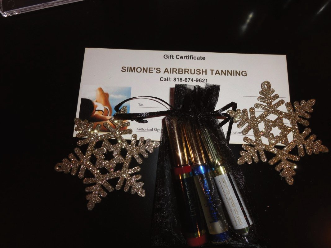 Spray Tanning gift certificates in studio city
